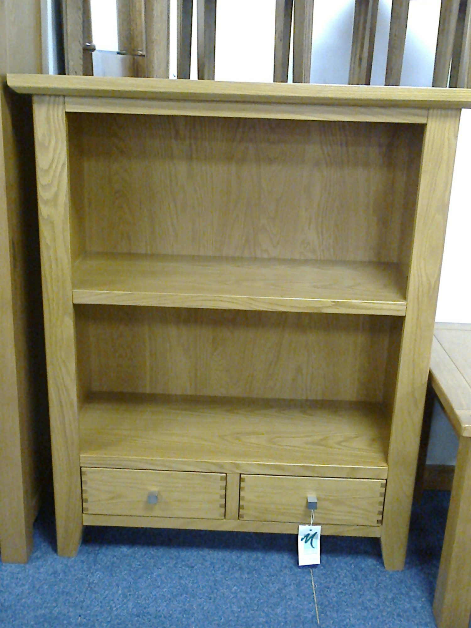 Morris Furniture Polo Low Bookcase Oak Clearance Living Dining