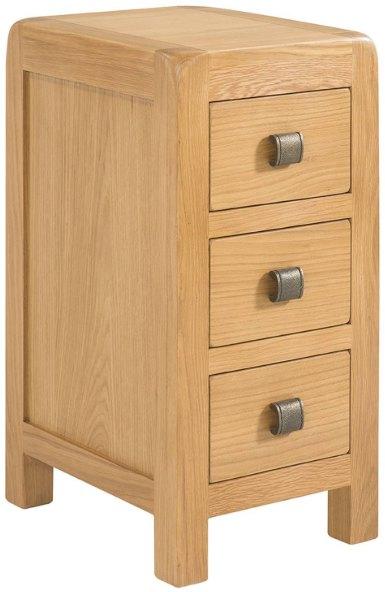 Devonshire Living Avon Narrow 3 Drawer Bedside Bedside