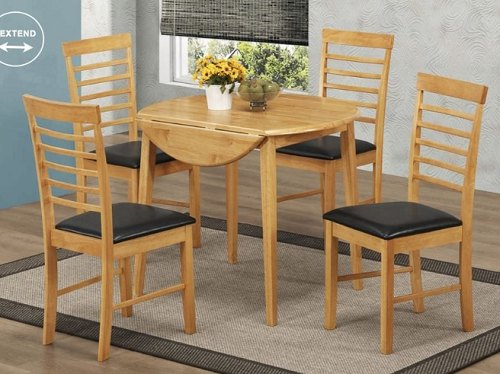 Annaghmore Hanover Light Round Drop Leaf Dining Set Dining Tables
