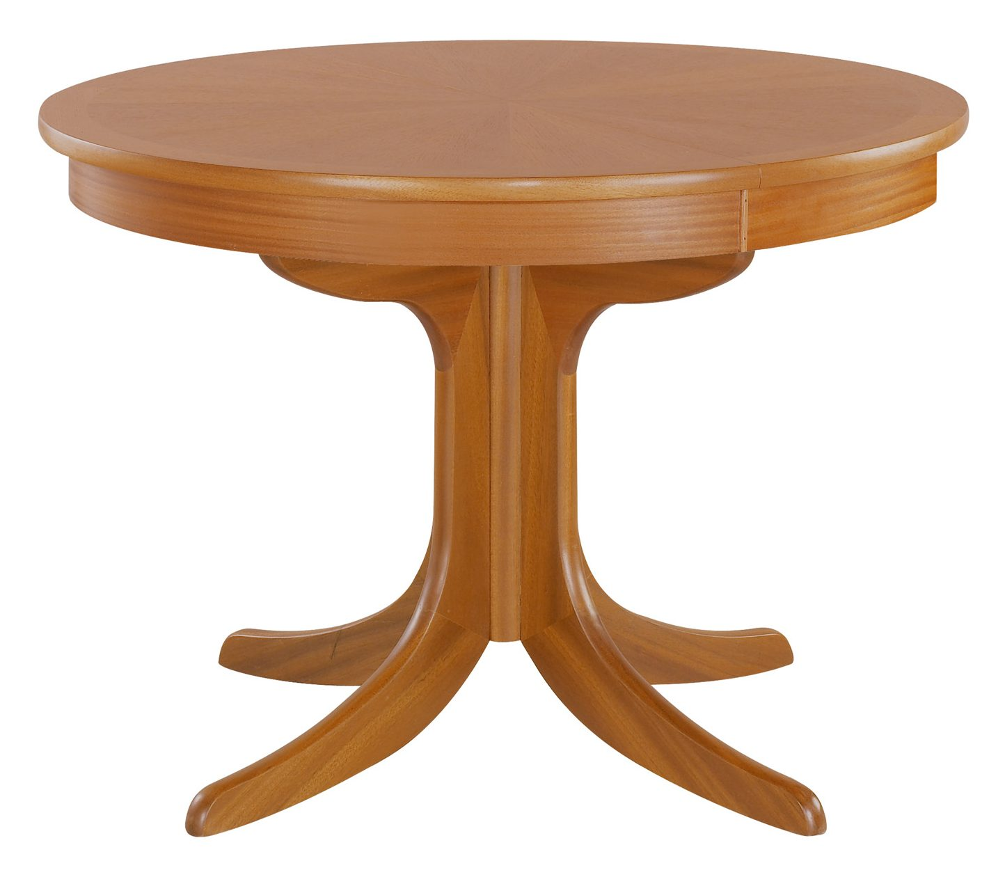 Nathan Classic Teak Cicular Pedestal Dining Table With