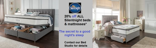 20% off ALL Silentnight beds and mattresses