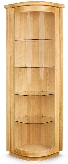 Clemence Richard Sorento Oak Corner Display Cabinet Cabinets Display Units Hafren Furnishers