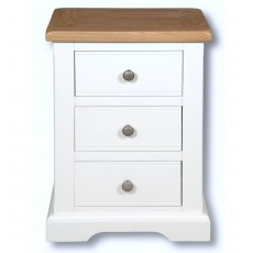 Real Wood Rio Painted 3 Drawer Bedside