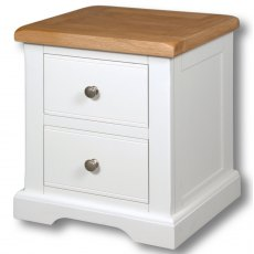 Real Wood Rio Painted 2 Drawer Bedside