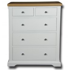 Real Wood Rio Painted 2 Over 3 Jumbo Chest