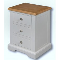 Real Wood Rio Painted Mini 3 Drawer Bedside