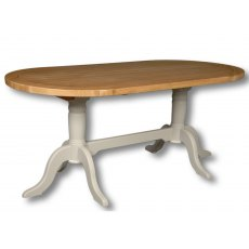 Real Wood Rio Painted Double Paddle Dining Table