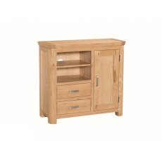 Annaghmore Treviso Solid Oak Media Unit