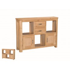 Annaghmore Treviso Solid Oak Low Display Unit