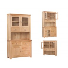 Annaghmore Treviso Solid Oak Buffet Hutch
