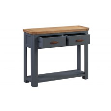 Annaghmore Treviso Midnight Blue Large Console Table With Drawers