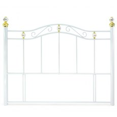 Metal Beds Warwick White Headboard