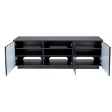 UK-CF New City London Black Flat Pack TV & Media Unit