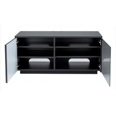 UK-CF New City Paris Black Flat Pack TV & Media Unit