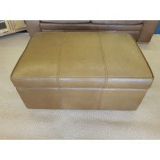 Halo Soho Storage Footstool In Plonge Toffee