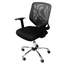 Alphason Office Chairs Atlanta Grey Mesh Back Operator Chair