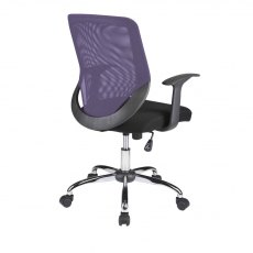 Alphason Office Chairs Atlanta Purple Mesh Back Operator Chair