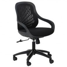 Alphason Office Chairs Croft Black Back Designer Mesh Chair