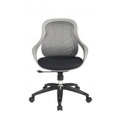 Alphason Office Chairs Croft Grey Back Designer Mesh Chair