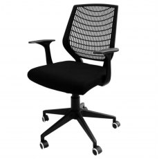 Alphason Office Chairs Pace Black Fabric Hard Backed Chair