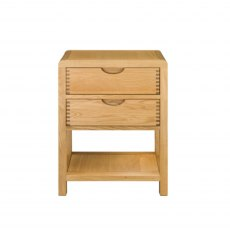 Ercol Bosco 2 Drawer Bedside Cabinet