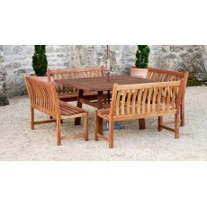 Alexander Rose Cornis Side Bench 3.5Ft