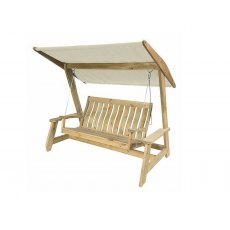 Alexander Rose Pine Farmers Swing Seat (Green/Ecru)
