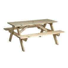 Alexander Rose Pine Heavy Duty Picnic Table 6ft