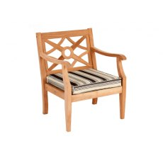 Alexander Rose Mahogany Heritage Lounge Armchair Clay Cushion