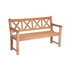 Alexander Rose Mahogany Drachmann Bench 5Ft