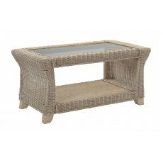 Desser Clifton Coffee Table & Bronze Glass