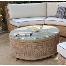 Daro Auckland Luna Round Coffee Table with Glass