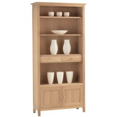 Corndell Nimbus Large Bookcase With Cupboard and Drawers