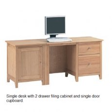 Corndell Nimbus Single Desk With Filing