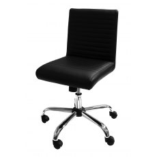 Alphason Office Chairs Lane Black Faux Leather Operator Chair