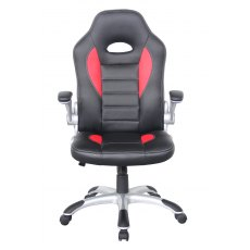 Alphason Office Chairs Talladega Black And Red Faux Leather Racing Chair
