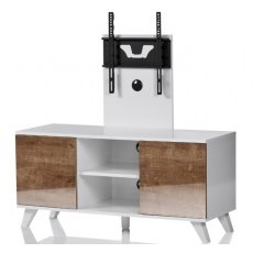 UK-CF New City Madrid White Oak TV Cabinet With Cantilver Bracket