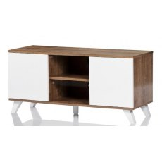 UK-CF New City Seville Oak White TV Cabinet