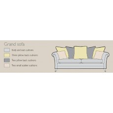 Alstons Adelphi Grand Pillow Back Sofa