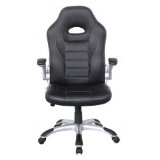 Alphason Office Chairs Talladega Black Faux Leather Racing Chair