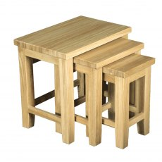 Real Wood Nest Of 3 Tables