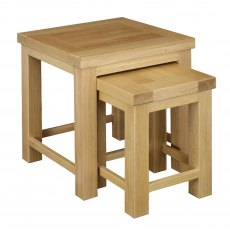 Real Wood Nest Of 2 Tables