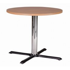 Hafren Contract Orlando Medium Round Dining Table With Laminate Top. Cast Iron Base