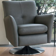 Parker Knoll Evolution Design 1704 Swivel / Rocker Chair With Brushed Chrome Base