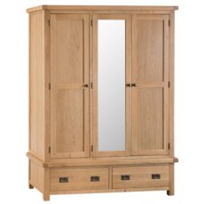 Hafren Collection KCO: Bedroom 3 Drawer Wardrobe with Mirror