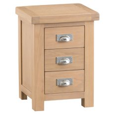 Hafren Collection KLO: Bedroom 3 Drawer Bedside