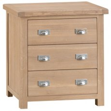 Hafren Collection KLO: Bedroom Large 3 Drawer Chest