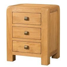 Devonshire Living: Avon 3 Drawer Bedside
