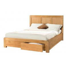 Devonshire Living: Avon 4' 6' Bed 2 Storage Drawers