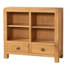 Devonshire Living: Avon Low Bookcase 2 Drawers